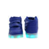 Galaxy LED Shoes Light Up USB Charging High Top Wings Kids Sneakers (Blue) 4