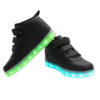 Galaxy LED Shoes Light Up USB Charging High Top Wings Kids Sneakers (Black) 3