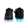 Galaxy LED Shoes Light Up USB Charging High Top Wings Kids Sneakers (Black) 4
