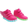 Galaxy LED Shoes Light Up USB Charging High Top Wings Kids Sneakers (Pink) 2