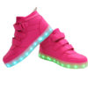 Galaxy LED Shoes Light Up USB Charging High Top Wings Kids Sneakers (Pink) 3