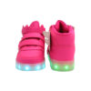 Galaxy LED Shoes Light Up USB Charging High Top Wings Kids Sneakers (Pink) 4