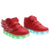 Galaxy LED Shoes Light Up USB Charging High Top Wings Kids Sneakers (Red) 2