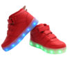 Galaxy LED Shoes Light Up USB Charging High Top Wings Kids Sneakers (Red) 3