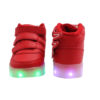 Galaxy LED Shoes Light Up USB Charging High Top Wings Kids Sneakers (Red) 4