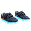 Galaxy LED Shoes Light Up USB Charging Low Top Boat Strap Kids Sneakers (Blue) 2