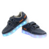Galaxy LED Shoes Light Up USB Charging Low Top Boat Strap Kids Sneakers (Blue) 3