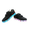 Galaxy LED Shoes Light Up USB Charging Low Top Boat Strap Kids Sneakers (Black) 3