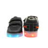 Galaxy LED Shoes Light Up USB Charging Low Top Boat Strap Kids Sneakers (Black) 4