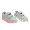 Galaxy LED Shoes Light Up USB Charging Low Top Boat Strap Kids Sneakers (White) 2