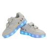 Galaxy LED Shoes Light Up USB Charging Low Top Boat Strap Kids Sneakers (White) 3