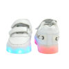 Galaxy LED Shoes Light Up USB Charging Low Top Boat Strap Kids Sneakers (White) 4