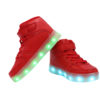 Galaxy LED Shoes Light Up USB Charging High Top Lace & Strap Kids Sneakers (Red) 3