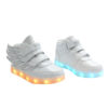 Galaxy LED Shoes Light Up USB Charging High Top Wings Kids Sneakers (White) 2