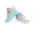 Galaxy LED Shoes Light Up USB Charging High Top Wings Kids Sneakers (White) 3
