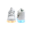 Galaxy LED Shoes Light Up USB Charging High Top Wings Kids Sneakers (White) 4