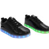 Galaxy LED Shoes Light Up USB Charging Low Top Women's Sneakers (Black Glossy) 2