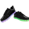 Galaxy LED Shoes Light Up USB Charging Low Top Women's Sneakers (Black Glossy) 3