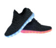 Galaxy LED Shoes Light Up USB Charging Low Top Knit Men Sneakers (Black) 3