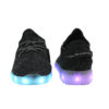 Galaxy LED Shoes Light Up USB Charging Low Top Knit Men Sneakers (Black) 4