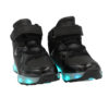 Galaxy LED Shoes Light Up USB Charging High Top Jet Lace & Strap Kids Sneakers (Black) 2
