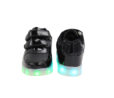 Galaxy LED Shoes Light Up USB Charging Low Top Straps Kids Sneakers (Black Glossy) 4