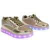 Galaxy LED Shoes Light Up USB Charging Low Top Kids Sneakers (Gold Glossy Fusion) 2