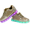 Galaxy LED Shoes Light Up USB Charging Low Top Kids Sneakers (Gold Glossy Fusion) 3