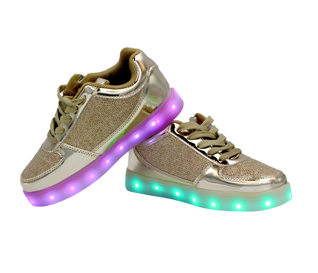 Galaxy Led Shoes Light Up Usb Charging Low Top Kids