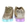 Galaxy LED Shoes Light Up USB Charging Low Top Kids Sneakers (Gold Glossy Fusion) 4