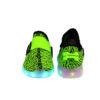 Galaxy LED Shoes Light Up USB Charging Low Top Sport Knit Kids Sneakers (Green/Black) 4