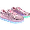 Galaxy LED Shoes Light Up USB Charging Low Top Kids Sneakers (Pink Glossy Fusion) 2