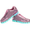 Galaxy LED Shoes Light Up USB Charging Low Top Kids Sneakers (Pink Glossy Fusion) 3