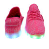 Galaxy LED Shoes Light Up USB Charging Low Top Knit Kids Sneakers (Pink) 4