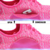Galaxy LED Shoes Light Up USB Charging Low Top Knit Kids Sneakers (Pink) 5