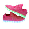 Galaxy LED Shoes Light Up USB Charging Low Top Knit Kids Sneakers (Pink) 6