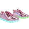 Galaxy LED Shoes Light Up USB Charging Low Top Kids Sneakers (Pink Glossy) 2