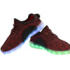 Galaxy LED Shoes Light Up USB Charging Low Top Knit Kids Sneakers (Black/Red) 3