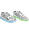 Galaxy LED Shoes Light Up USB Charging Low Top Kids Sneakers (Silver Glossy Fusion) 2