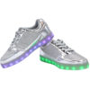 Galaxy LED Shoes Light Up USB Charging Low Top Kids Sneakers (Silver Glossy Fusion) 3
