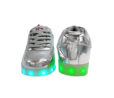 Galaxy LED Shoes Light Up USB Charging Low Top Kids Sneakers (Silver Glossy Fusion) 4