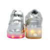 Galaxy LED Shoes Light Up USB Charging Rolling Wings Kids Sneakers (Silver Glossy) 4