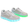 Galaxy LED Shoes Light Up USB Charging Low Top Kids Sneakers (White Glossy Fusion) 2