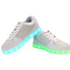 Galaxy LED Shoes Light Up USB Charging Low Top Kids Sneakers (White Glossy Fusion) 4