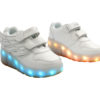 Galaxy LED Shoes Light Up USB Charging Rolling Wings Kids Sneakers (White) 2