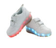 Galaxy LED Shoes Light Up USB Charging Rolling Wings Kids Sneakers (White) 3