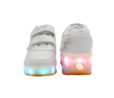Galaxy LED Shoes Light Up USB Charging Rolling Wings Kids Sneakers (White) 4