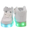 Galaxy LED Shoes Light Up USB Charging High Top Lace & Strap Kids Sneakers (White) 4