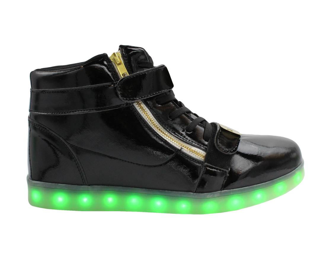 cb33613cbba9 Galaxy LED Shoes Light Up USB Charging High Top Plated Lace   Strap Adult  Sneakers (