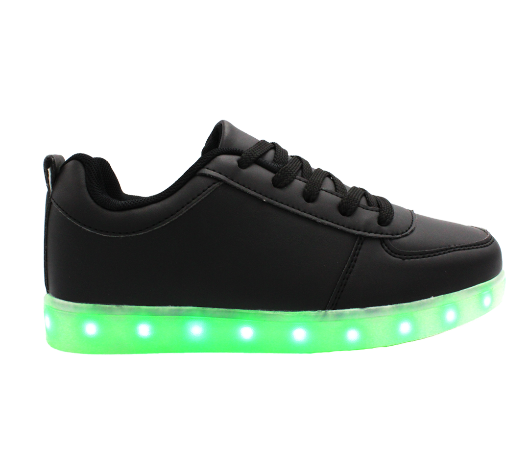Galaxy LED Shoes Light Up USB Charging Low Top Kids ...